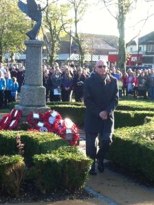 President Peter laying our Rotary Remembrance Wreath