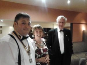 President Steve with Kate & Jonathan